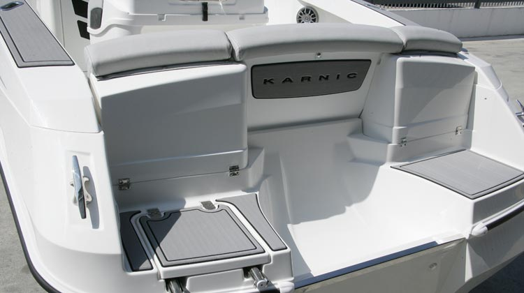 SeaDek floor package, bow and stern