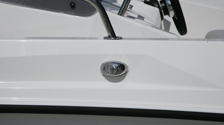 Fused electrics package with navigation and illumination lights, marine horn and manual/automatic bilge pump