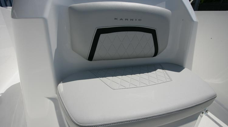 Console forward seat with backrest