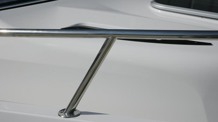 Welded stainless steel rails