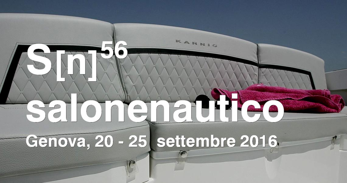 First public showing of Karnic's MarkII Generation models at Genoa Boat Show, 20-25 September 2016