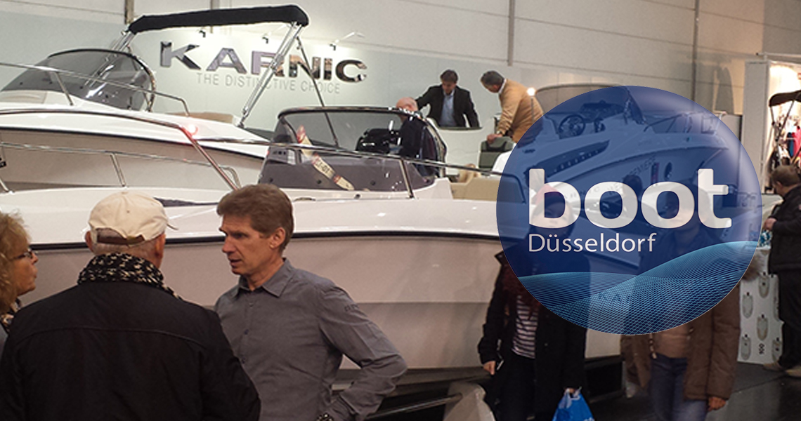 Rich Karnic model presentation at Boot Dusseldorf 2019, 19-27 January 2019, Stand H9 D42