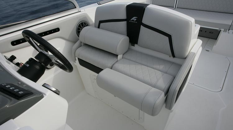 Choice of Swivel seats or LP Weekender helm with associated options