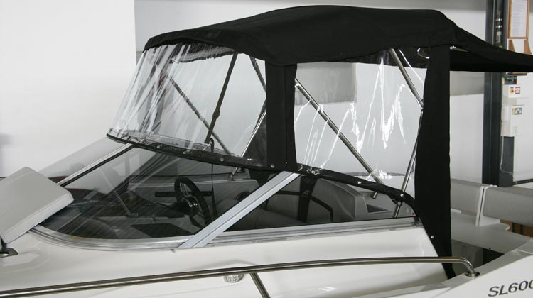 Bimini forward and side weather covers