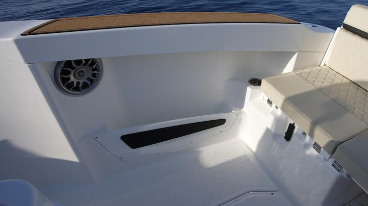 High gunwale height for extra on-board safety
