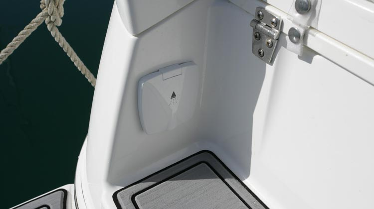Freshwater with transom shower