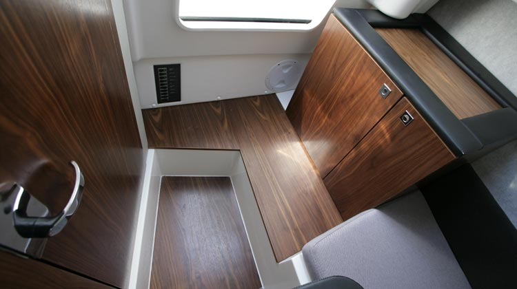 Real walnut floors and interior