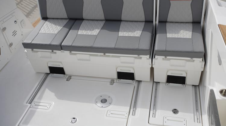 Increased usable cockpit floor space due to strategic design of layout and modules